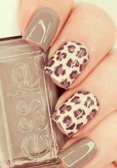 Leopard nail art. Love !