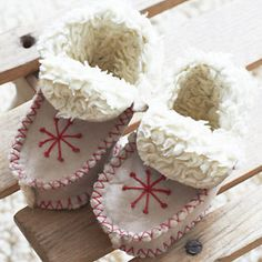 fuzzy baby boots pattern