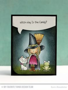 Witch Way Is the Candy?, Stitched Speech Bubble Die-namics. Witch Way Is the Candy? Die-namics - Karin Åkesdotter   #mftstamps