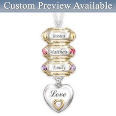Idea for your mom   http://www.bradfordexchange.com/products/110684002_forever-in-a-mothers-heart-personalized.html