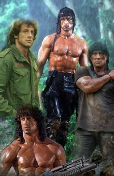 Silvestre Stallone, Rocky Balboa Movie, Sylvester Stallone Rambo, Stallone Movies, John Rambo, Military Action Figures, Role Player, Bravest Warriors, Classic Sci Fi