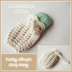 FREE crochet pattern for a Pretty Simple Soap Cozy.