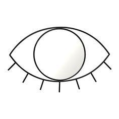 Cyclops Eye Wall Mirror Glass Mirror and Steel Frame (Medium 17 x 11 x Inches Black) DOIY Wall Mounted Mirror, Wall Mirror, Mirror Glass, Mirrors For Makeup, Love Is In The Air, Cyclops, Black Mirror, Black Glass, Steel Frame
