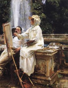The Fountain, 1907 ~ John Singer Sargent ~ (American: 1856-1925)