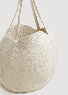 Bolso shopper redondo
