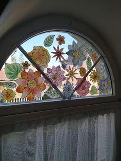 Tvoření od IVETULE: Rozkvetlé okno - PDF zdarma Windows, Projects, Blog, Home Decor, Log Projects, Blue Prints, Decoration Home, Room Decor, Blogging