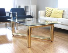 Sculptural Brass Z Coffee Table Base by elefantdesign on Etsy