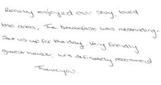 Guest feedback after a two night stay in one of our en suite double bedrooms whilst visiting Beamish museum, 25 minutes from us.