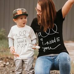 All i need is you mom tshirt / mom and me matching outfit / mom and son / mom and daughter