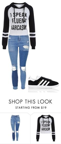 """""""Untitled #260"""" by basheygirl on Polyvore featuring Topshop and adidas"""