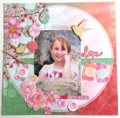 'Love' Layout by Amanda Baldwin Design Team Kaisercraft using Cherry Blossom Collection - Wendy Schultz ~ Scrapbook Pages Scrapbook Pages, Scrapbooking Layouts, Script Words, Clear Stickers, Resin Flowers, Handmade Home Decor, Beautiful Moments, Cherry Blossom, Amanda