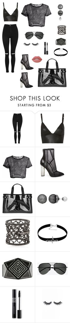 """""""Mesh"""" by megs78 ❤ liked on Polyvore featuring Topshop, T By Alexander Wang, Steve Madden, Armani Jeans, Simply Vera, Colette Jewelry, Chanel, Yves Saint Laurent, Christian Dior and Violet Voss"""