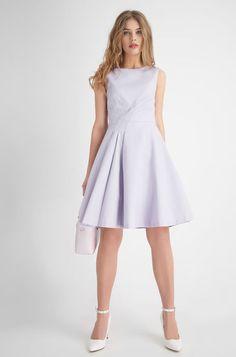 Office Glockenkleid - Violett Elegant, Office, Dresses, Fashion, Dresses For Graduation, Business Dresses, Classy, Moda, Vestidos
