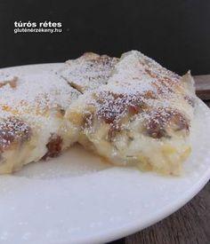 gluténmentes túrós rétes recept Strudel, Paleo, French Toast, Food And Drink, Gluten Free, Breakfast, Desserts, Recipes, Cukor