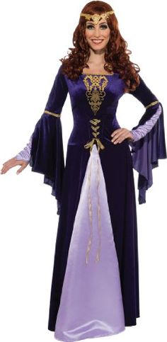 Legend tells of beautiful and noble Queen Guinevere, the royal consort of the renowned King Arthur. Now you can dress like this medieval queen for the Renaissance fair or Halloween with the help of the Womens Guinevere Costume. Renaissance Fair Costume, Renaissance Dresses, Medieval Costume, Fancy Dress Wigs, Halloween Fancy Dress, Dress Up, Halloween Costumes, Women Halloween, Blue Costumes
