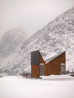 Norwegian roadside rest stop | contemporary public-toilet architecture