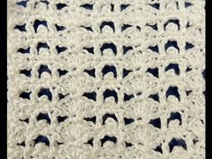 Crochet: Punto Enrejado con Flor Recto # 4 - YouTube