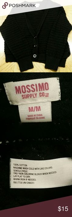 Girls Mossimo Black Sweater Perfect 3 buttons sweater.  100% Cotton. Mossimo Jackets & Coats