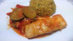 Receitas da Romy: Lombos de pescada com legumes