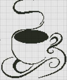 Вышивка для любителей кофе. Схемы.