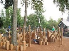 New wood climber, East 110th Street Playground