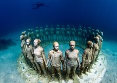 Jason deCaires Taylor, contemporary underwater sculptures