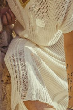 AGORA Hand woven KAFTAN in Golden crochet · Pure linen and Viscose - Mèrit Orlando · Handcrafted in Ibiza Author Slowfashion Ibiza, Maxi Kaftan, Slow Fashion, Orlando, Hand Weaving, Pure Products, Gold, Handmade, Author
