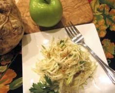 Celery Root and Apple Salad Apple Salad, Celery, Salads, Beef, Chicken, Recipes, Food, Apple Slaw, Meal