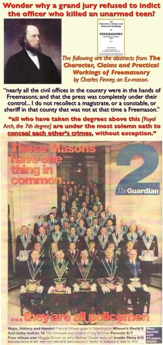 Freemasons in civil offices and the oath to conceal each other's crimes.