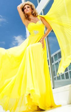 Tony Bowls Evenings by Mon Cheri - TBE11207 Dress In Yellow | CoutureCandy