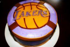 Lakers cake  www.sugarandsprinklesco.com