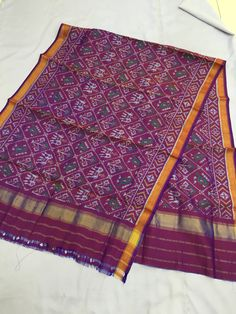 Rajkot patola silk dupatta it is perfect for indian salwar suits and on traditional kurtis Price ₹2800 Pure silk handwoven Length 2.10mtr Width 36inch Cell.09510111976
