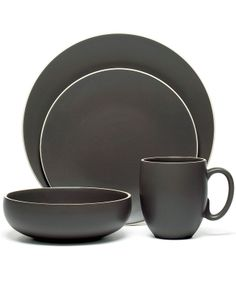 Vera Wang for Wedgwood  Naturals  - Home - Bloomingdaleu0027s  sc 1 st  Pinterest & Vera Wang Wedgwood Dinnerware Naturals Graphite Collection | Dream ...