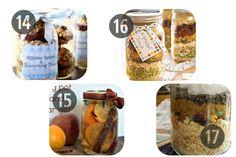 14-17 Mason jar recipes holiday gifts in a jar