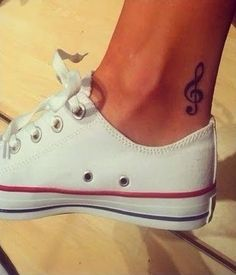 32 Cool Music Note Tattoo Ideas I would get it on my wrist