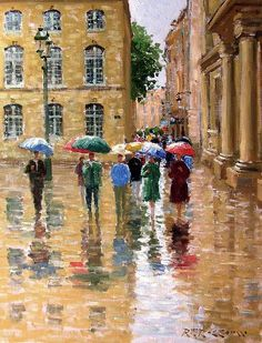 It Is Still Raining In Provence Painting by Roelof Rossouw - It Is Still Raining In Provence Fine Art Prints and Posters for Sale