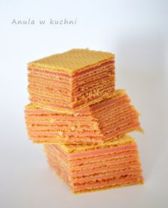 Anula w kuchni: Wafle z galaretką Sweet Recipes, Snack Recipes, Snacks, Polish Recipes, Polish Food, Sweet Little Things, Homemade Cakes, Cornbread, Deserts