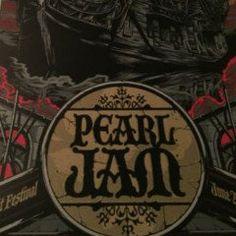 Pearl Jam - 2012 Rhys Cooper/Ken Taylor poster print Isle of Wright UK