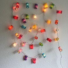Lichterkette farbige Laternen Office Supplies, String Lights, Lanterns