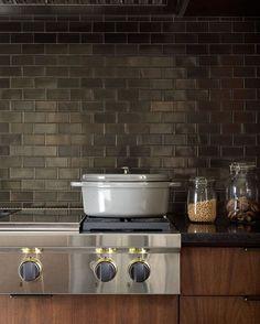 Frampton & Co-designed kitchen with Heath tile backsplash. Photo by Joshua McHugh.