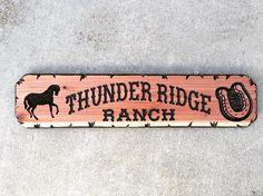 Thunder Ridge ranch custom sign $60.00
