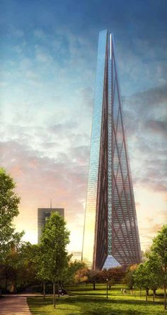New Moscow Skyscraper, Russia - design by Foster + Partners #vertical #architecture