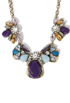 Clustered Faux Stone Statement Necklace | Forever 21 - 1002247961 $20.90