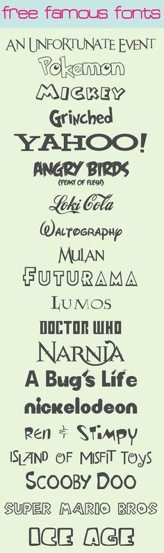 Famous Fonts