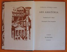 Ars Amatoria  by Publius Ovidius Naso by Pistilbooks on Etsy