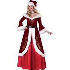 Ce déguisement de mère noël est composé d une robe en velours brodé d  d3e51d77fab
