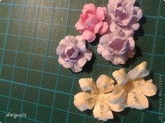 Мастер-класс Скрапбукинг Моделирование конструирование Самодельные цветочки для скрапбукинга и не только Бумага фото 1
