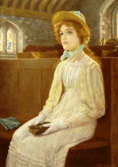 """""""Faith"""", c. early 1890s, by Arthur Hughes (English, 1832-1915)"""