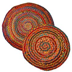 Featured in Style at Home and Sunday Mirror Homes. Colourful recycled braided rugs.