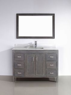 Exceptional Corniche French Gray Single Sink Vanity By Studio Bathe; From Costco    Base, Sink And Counter Included